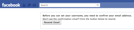 Before you can set your username, you need to confirm your email address.