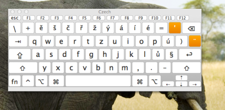 Default Cyech Keyboard Layout mac