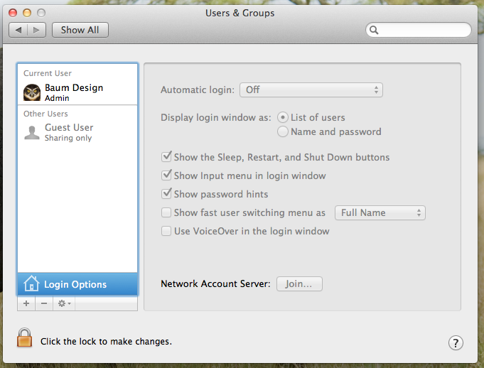 how to change login icon on mac