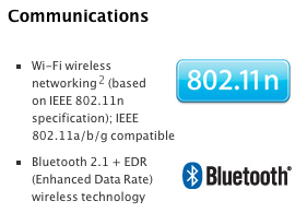 Bluetooth 2.1 on MacBook Pro Early 2011