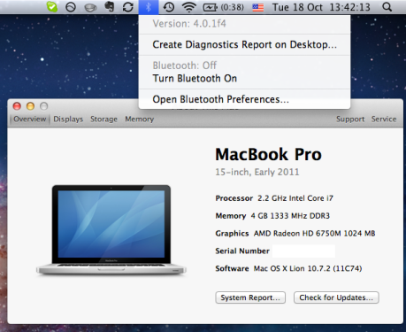 Bluetooth 4.0.1f4 - MacBook Pro 2.2 Early 2011