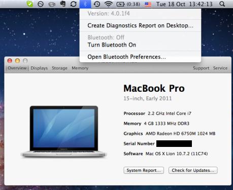 Bluetooth 4.0.1f4 - MacBook Pro 2.2 Early 2011